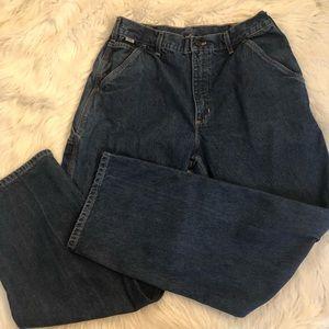 Carhartt FR jeans sz 34x32 blue denim cargo